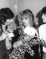 Keith, Jo and Dave Jordan at Pathe Marconi (Paris, 1977)